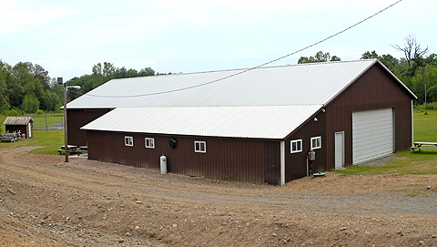 North bay volunteer fire department for Adding onto a pole barn